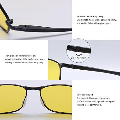 Sol Amarillo Hombre Para Gafas De Deportivas Negro Polarizadas Gafas AMZTM wafYPZxqz
