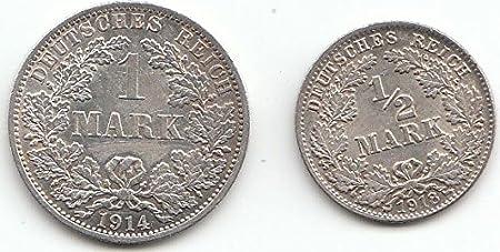 Deutsches Reich Kollektion Silbergeld 1 Weltkrieg Sehr Schön Silber