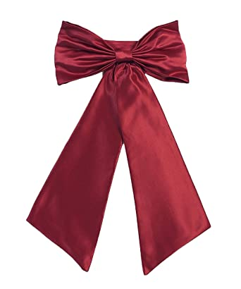 5635d0744d1 Amazon.com  Sash Belt for Flower Girl Dresses with Big Bow Stain Girls Bow  Belt  Clothing