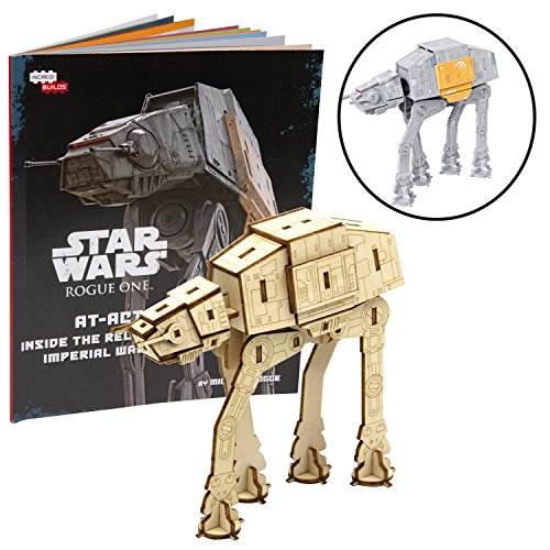 - Star Wars: Rogue One at-ACT Book and 3D Wood Model Kit - Build, Paint and Collect Your Own Wooden Model - Great for Kids and Adults, 12+ - 4.75