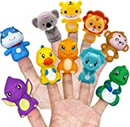 HUAIOU Rubber Animals Finger Puppets for Todders,Bath Toys, Colorful Storytelling Toys for Teaching Show, Good