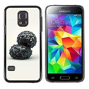 Caucho caso de Shell duro de la cubierta de accesorios de protección BY RAYDREAMMM - Samsung Galaxy S5 Mini, SM-G800, NOT S5 REGULAR! - Abstract