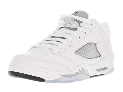 e3bb1e97d78a Image Unavailable. Image not available for. Color  Jordan Kids 5 Retro Low ( GS) White Wolf Grey  Black 819172