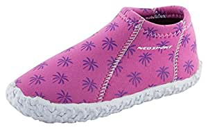 NeoSport Kid's Water & Deck Shoes, Brite Palm, Size 3