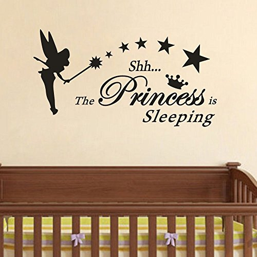 The Princess is Sleeps Wall Decals Children's Room Home Decoration Art