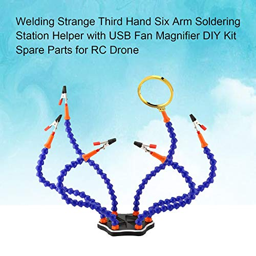 Drone Strange Third Hand Six Arm Soldering Station with USB Fan Magnifier by Wikiwand (Image #3)