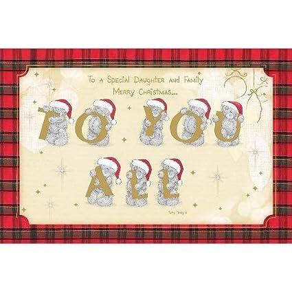 Hija y familia Me to You Oso felicitaciones navideñas: Amazon.es ...