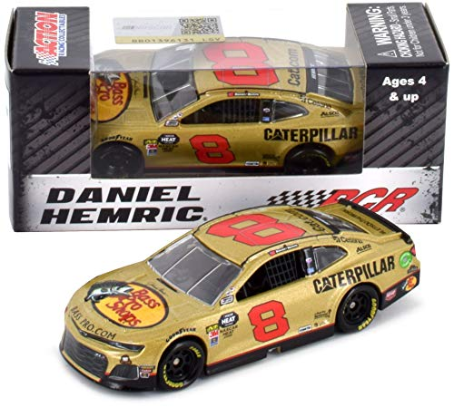 Lionel Racing Daniel Hemric 2019 RCR 50th Anniversary Gold Bass Pro Shops/Caterpillar NASCAR Diecast Car 1:64 - Car Gold Diecast