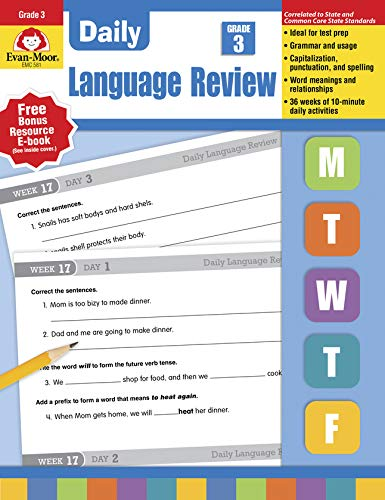 Daily Language Review Grade 3 Evan Moor 0023472005816