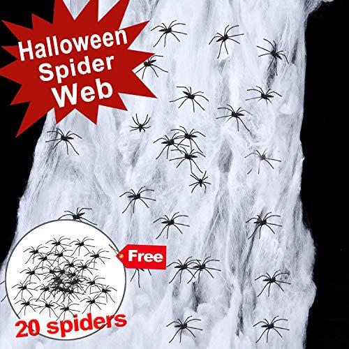 Giant Spider Web Halloween Decoration, Super Stretch to