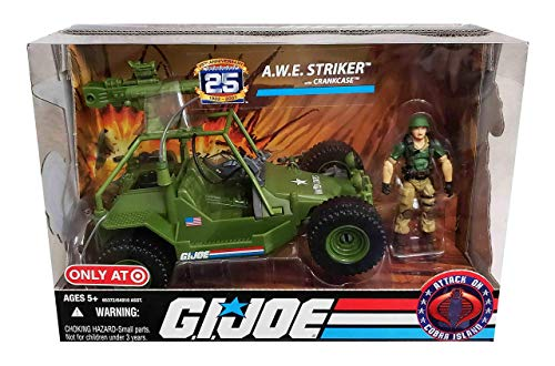 G.I. Joe 25th Anniversary Attack on Cobra Island Exclusive A.W.E Striker (All Weather and Environment) AWE with Crankcase Action Figure