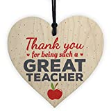 XLD Store Thank You Gifts Teacher Gift Wooden Heart Leaving Goodbye Teaching Assistant Nursery School Present
