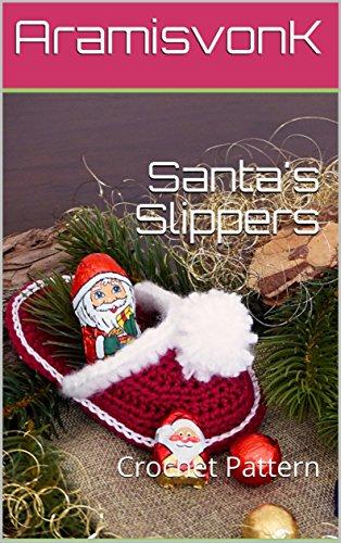 Santa's Slippers: Crochet Pattern