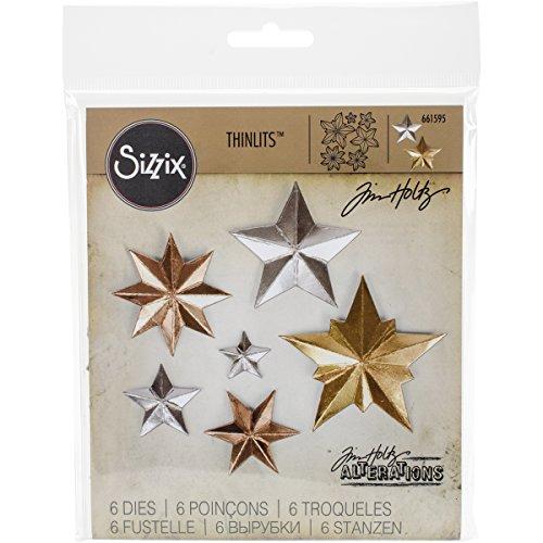 Sizzix 661595 Thinlits Die Set, Dimensional Stars by Tim Holtz ()