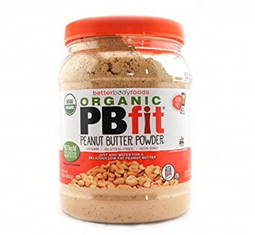 Organic PBfit, All-Natural Peanut Butter Powder, Certified Organic, Produced by BetterBody Foods -Family Siize 4 Packk ( 120 Ounce Total ) by PBFit