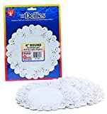 Hygloss 36061 36-Piece Round Doilies, 6-Inch, White