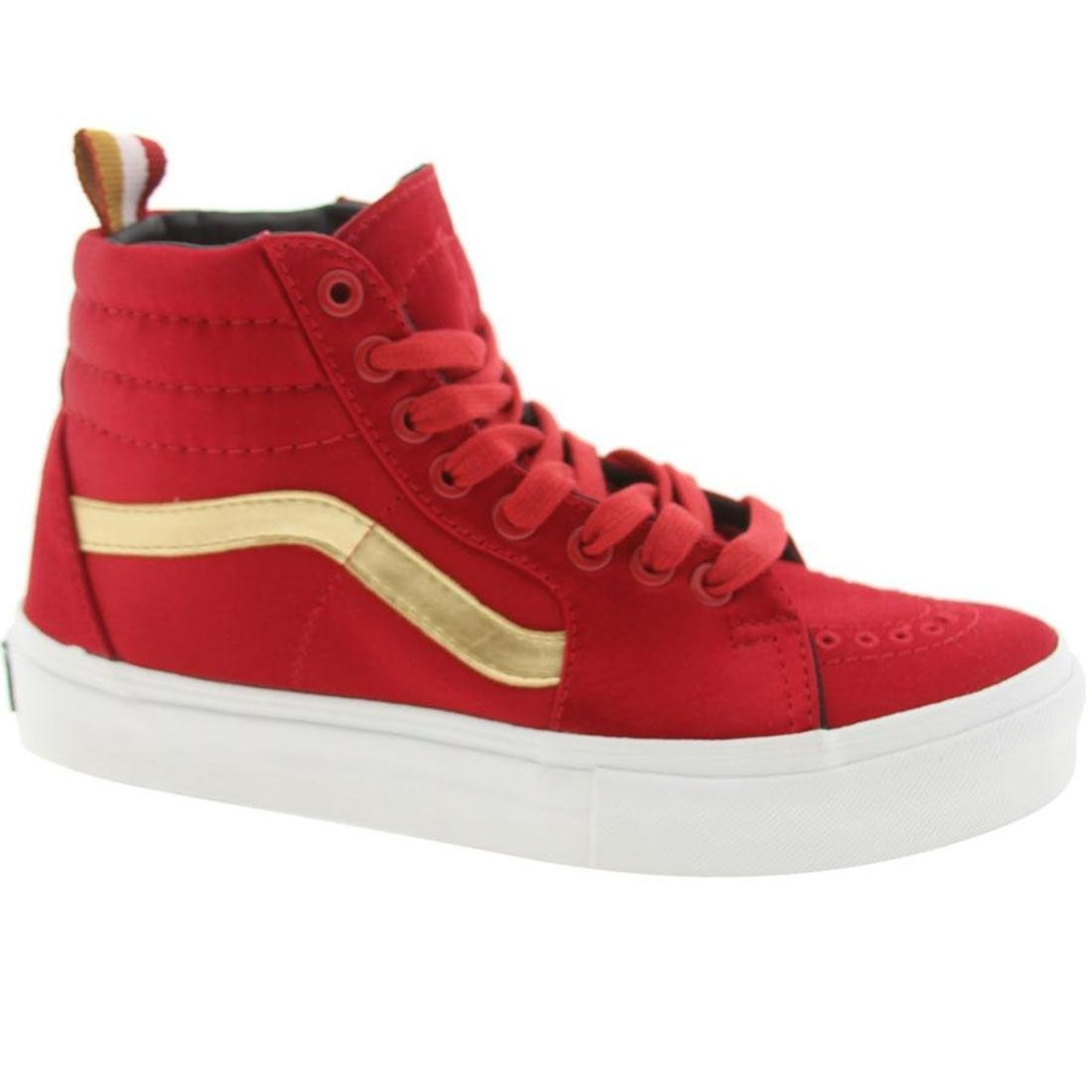 all red vans with gold