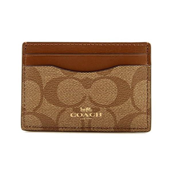 COACH Signature Color-Block Flat Card Case