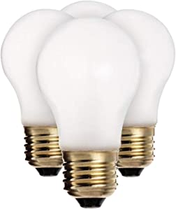 Satco S8525 40 watt A15 Incandescent; Frosted; 2500 Average Rated Hours; 280 lumens; Medium Base; 130 Volts; 4 Bulbs