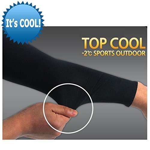 Unisex Cute Guinea Pig Sunscreen Outdoor Travel Arm Warmer Long Sleeves Glove by I Like Exercise (Image #4)