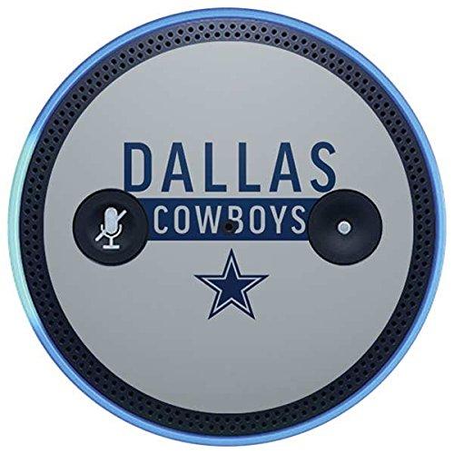 Skinit NFL Dallas Cowboys Amazon Echo Plus Skin - Dallas Cowboys Silver Performance Series Design - Ultra Thin, Lightweight Vinyl Decal Protection
