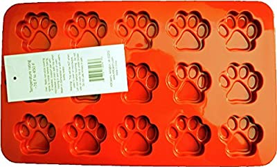 K9 Cakery Paw Silicone Cake Pan, 12.5 by 7.5-Inch