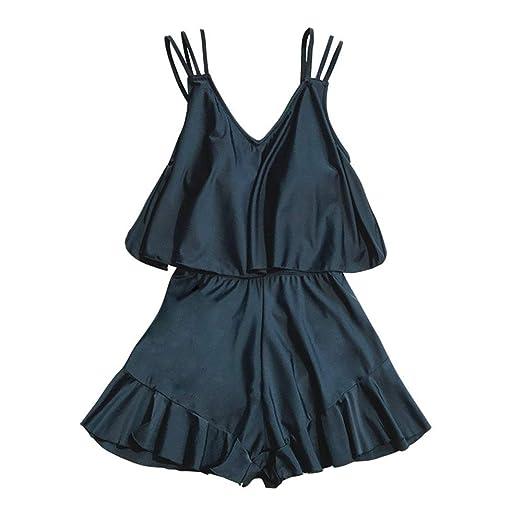 Weiwei Trajes de baño Mujer,Señoras Sexy Trajes de baño Negro ...