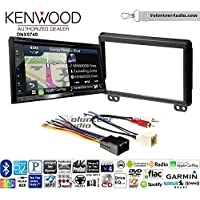 Volunteer Audio Kenwood DNX574S Double Din Radio Install Kit with GPS Navigation Apple CarPlay Android Auto Fits 2003 Expedition and Navigator