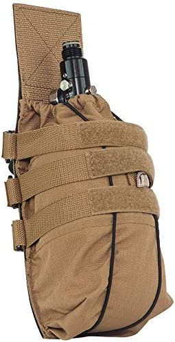 Valken Paintball Tank Vest Pouch Universal-Tan, One Size