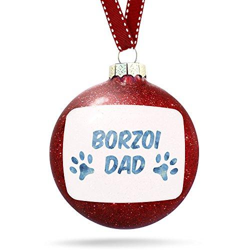 Christmas Decoration Dog & Cat Dad Borzoi Ornament
