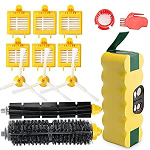 efluky 3.5Ah Ni-MH Replacement Roomba Battery + Replacement Accessory Part Kit for iRobot Roomba 700 Series 700 760 770 780 790 - a Set of 14
