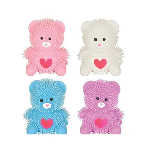 2.75'' Heart Bear Puffer (With Sticky Notes) by Bargain World