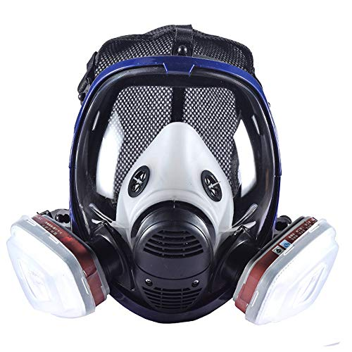 Holulo Organic Vapor Full Face Respirator With Visor Protection For Paint, chemicals, polish welding protection by Holulo (Image #9)