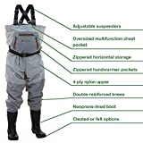 Frogg Toggs Hellbender Breathable Bootfoot Chest Wader, Cleated Outsole, Slate Gray, Size 12