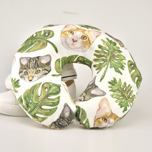 Neck Pillow with Resilient Material Animal Eggs Art U Type Travel Pillow Super Soft Cervical Pillow by Summer Park (Image #3)