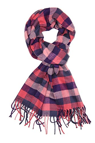 Cashmere Check (Achillea Classic Plaid Check Cashmere Feel Winter Scarf (Pink Check))