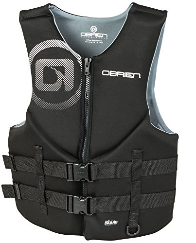 - O'Brien Men's Traditional Neoprene Life Jacket, Black, Medium