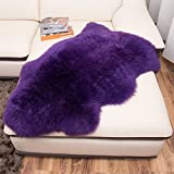 lililili Faux fur sheepskin rug,Kids carpet home décor accent for a kid's room,Childrens bedroom, Nursery, Living room or bath.Bay window blanket,Sofa cover-purple 70x100cm(28x39inch)
