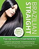 Brazilian Straight Top-Up Keratin Treatment Kit, Home Use Treatment Kit, Salon Quality Hair Straightening / Blow Dry / Smoothing, 100ml