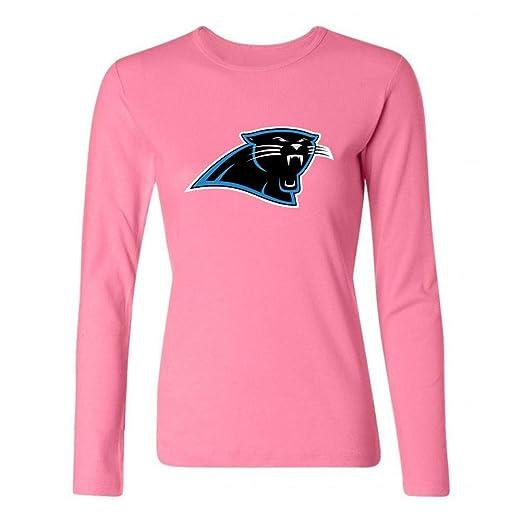 c4f25118 Amazon.com: DLQUEEN Women's Carolina Panther Long Sleeve T-shirt ...