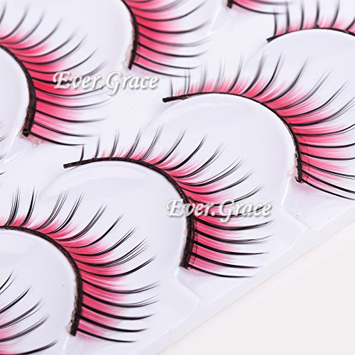 Red Feather Eyelashes False Eye Lash Party Cosmetic Soft Long Cosplay -