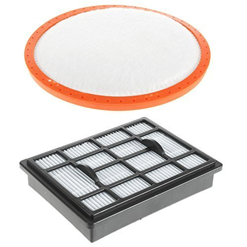 Spares2go Hepa H12 Filter Pad Kit For Vax Power 6 C89-P6-B C89-P6N-P Vacuum Cleaners