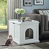 unipaws Designer Cat Washroom Storage Bench, Litter