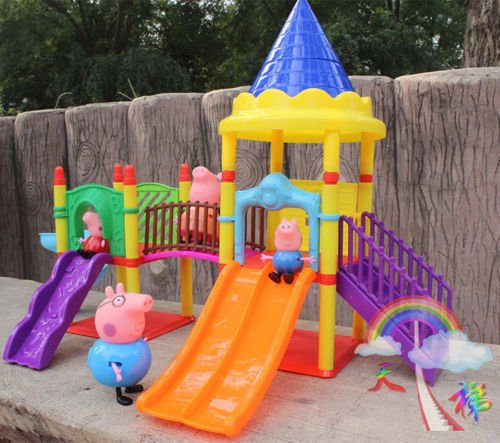 New Peppa Pig Playground Children's Slide Play Set With Figures Xmas Gift
