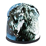 Fashion Men'S Wolf Pattern Ladies Street Punk Bone Thick Ski Cap