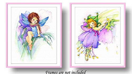 7Dots Art. Flower fairy. Watercolor Art Print, poster 8