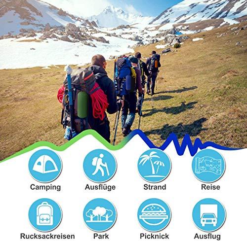 51hmBXSoO%2BL Karvipark Camping Isomatte, Ultraleichte Luftmatratze mit Kopfkissen, Faltbar Leicht Kleines Packmaß, Wasserdicht…