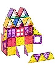 Playmags 60 częściowy zestaw startowy: Z najsilniejsze magnesy gwarantowana i wytrzymały, Super Durable z Vivid jasny kolor płytek. 6-częściowy Clickins Akcesoria do Popraw swoją kreatywność