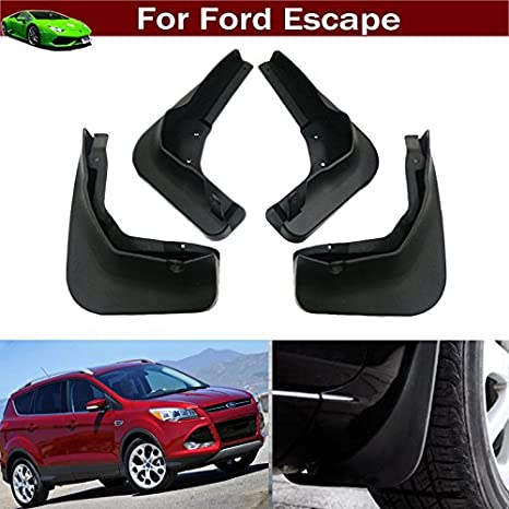 110040-120040 WeatherTech Custom MudFlaps for Ford Escape Front /& Rear Set Black