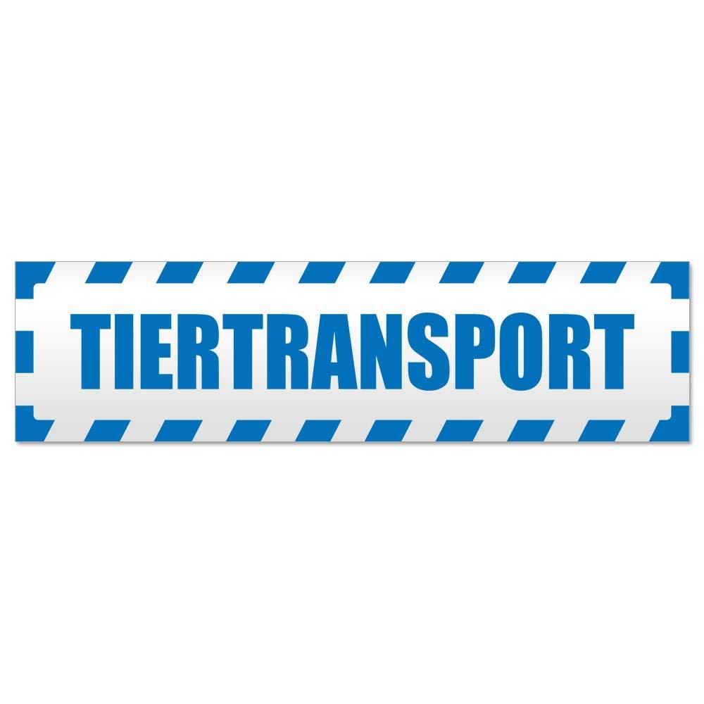 Kiwistar Tiertransport gestreift Magnetschild Schild magnetisch